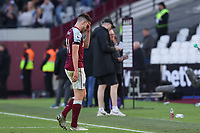 3rd October 2021;   City of London Stadium, London, England; EPL Premier League football, West Ham versus Brentford; A dejected Declan Rice of West Ham United after the 1-2 loss