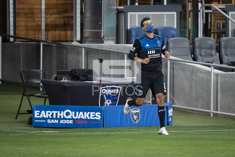 SAN JOSE, CA - NOVEMBER 04: Chris Wondolowski #8 of the San Jose Earthquakes enters Earthquakes Stadium before a game between Los Angeles FC and San Jose Earthquakes at Earthquakes Stadium on November 04, 2020 in San Jose, California.