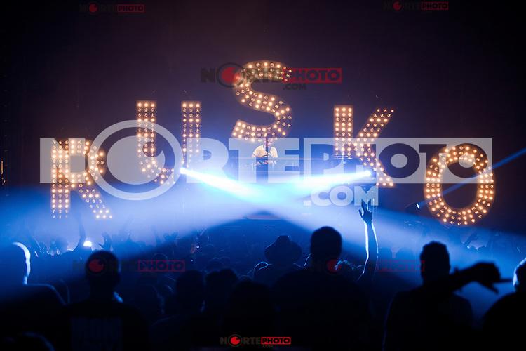 Rusko performing live at Royal Oak Music Theatre in Royal Oak, Michigan. May 6, 2012. © Joe Gall / MediaPunch Inc.