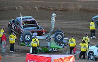 Dec. 10, 2011; Chandler, AZ, USA;  LOORRS pro 2 unlimited driver Nick Tyree (91) during round 15 at Firebird International Raceway. Mandatory Credit: Mark J. Rebilas-