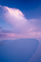 Dunes at sunset<br /> Heart of Sands<br /> White Sands National Monument<br /> Chihuahuan Desert, New Mexico