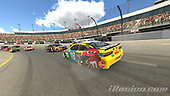 #18: Kyle Busch, Joe Gibbs Racing, Toyota Camry<br /> <br /> (MEDIA: EDITORIAL USE ONLY) (This image is from the iRacing computer game)