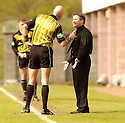 20040509    Copyright Pic: James Stewart.File Name : jspa23_clyde_v_ict.INVERNESS CALEY BOSS JOHN ROBERTSON GETS HIMSELF INTO TROUBLE WITH REF JOHN ROWBOTHAM.....James Stewart Photo Agency 19 Carronlea Drive, Falkirk. FK2 8DN      Vat Reg No. 607 6932 25.Office     : +44 (0)1324 570906     .Mobile  : +44 (0)7721 416997.Fax         :  +44 (0)1324 570906.E-mail  :  jim@jspa.co.uk.If you require further information then contact Jim Stewart on any of the numbers above.........
