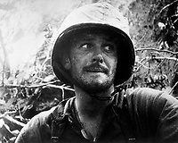 US Marine in action at Peleliu Island, Palau Islands,  Ca.  September 1944. (Navy)<br /> Exact Date Shot Unknown<br /> NARA FILE #:  080-G-48358<br /> WAR & CONFLICT BOOK #:  1182