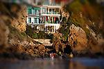 Beach homes, Corona del Mar, CA.