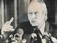 1976 FILE PHOTO - ARCHIVES -<br /> <br /> Rene Levesque. Business-like administrator<br /> <br /> Bezant, Graham<br /> Picture, 1976, <br /> <br /> 1976<br /> <br /> PHOTO : Graham Bezant - Toronto Star Archives - AQP