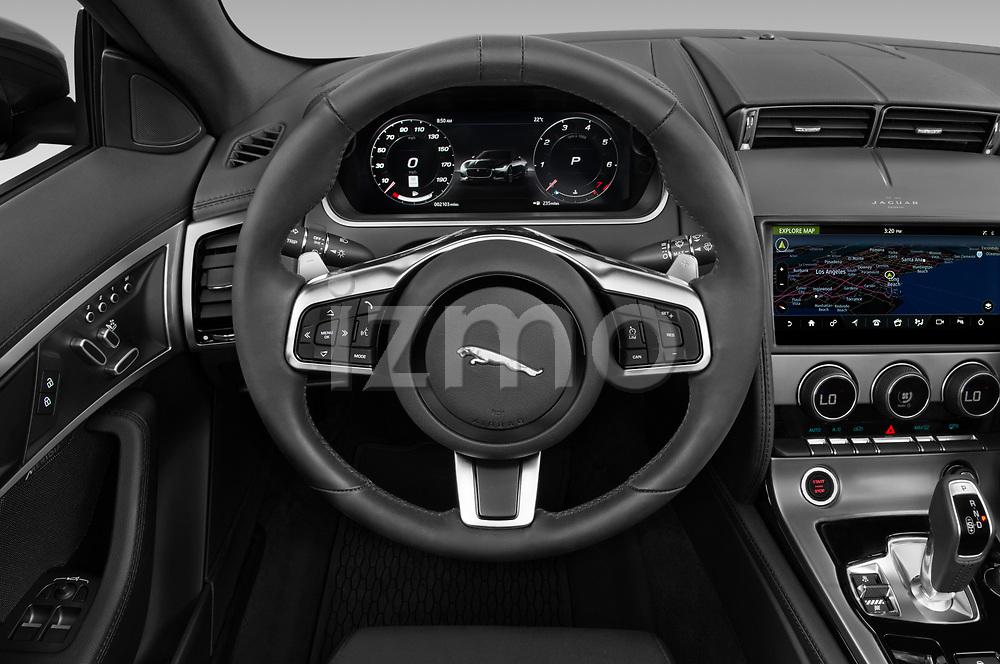 Car pictures of steering wheel view of a 2021 Jaguar F-Type - 2 Door Convertible Steering Wheel