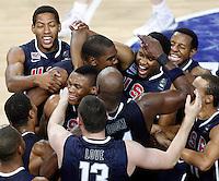 USA team celebrates victory of Basketball World championship in Istanbul, Final game, Turkey-USA, Turkey on Sunday, Sep. 12, 2010. (Novak Djurovic/Starsportphoto.com) .