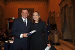 FRANCESCO PROFUMO CON BARBARA PALOMBELLI<br /> PREMIO GUIDO CARLI - SECONDA EDIZIONE<br /> PALAZZO DI MONTECITORIO - SALA DELLA REGINA ROMA 2011