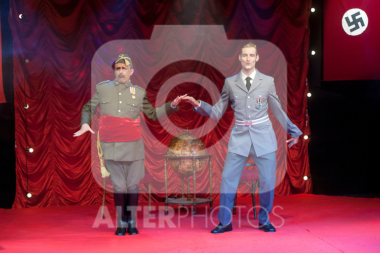 """Hendaya. WHEN ADOLF FOUND PACO """", the legend never told you. In the picture the actors Juan Carlos Mestre is Franco and Luis Yagüe is Ribbentrop. July 18, 2012. (ALTERPHOTOS/Ricky)"""