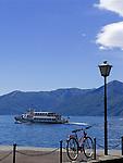 CHE, Schweiz, Tessin, Ascona am Lago Maggiore - Ausflugsschiff | CHE, Switzerland, Ticino, Ascona at Lago Maggiore - excursion boat