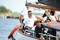 ZEILSPORT: DE VEENHOOP: 07-08-2017, SKS Skûtsjesilen, schipper skûtsje Huizum Johannes Meeter, ©foto Martin de Jong