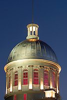 Canada, Montreal, Bonsecours Market at night