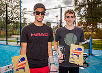 Netherlands, September 6,  2020, Amsterdam, Padel Dam, NK Padel, National Junior Padel Championships, Winners under 18 years:  Xander Aué (NED) and Jorrit Notenboom (NED)<br /> Photo: Henk Koster/tennisimages.com