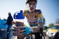 Quinten Hermans (BEL/Telenet-Fidea) on the recovery shake post-race<br /> <br /> Koppenbergcross 2014