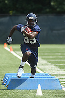 Virginia runningback Perry Jones during open spring practice for the Virginia Cavaliers football team August 7, 2009 at the University of Virginia in Charlottesville, VA. Photo/Andrew Shurtleff