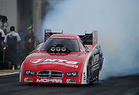 Sept. 28, 2012; Madison, IL, USA: NHRA funny car driver Johnny Gray during qualifying for the Midwest Nationals at Gateway Motorsports Park. Mandatory Credit: Mark J. Rebilas-