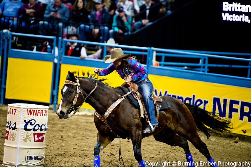 at the 4th round event of the Wrangler National Finals Rodeo December 10th 2017.  Photo by Josh Homer/Burning Ember Photography.  Photo credit must be given on all uses.