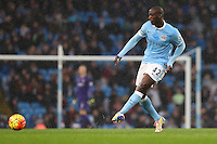 Yaya Toure during the Barclays Premier League Match between Manchester City and Swansea City played at the Etihad Stadium, Manchester on 12th December 2015