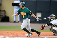 Siena Saints outfielder Andres Ortiz #3 during a game against the Central Florida Knights at Jay Bergman Field on February 16, 2013 in Orlando, Florida.  Siena defeated UCF 7-4.  (Mike Janes/Four Seam Images)