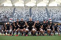 14th November 2020, Sydney, Australia;  Haka. Tri Nations rugby union test match,  New Zealand All Blacks versus Argentina Pumas. Bankwest Stadium, Sydney, Australia. 14th Nov 2020. Copyright Photo: Cameron Spencer / Pool