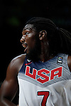 United States´s Faried during FIBA Basketball World Cup Spain 2014 final match between United States and Serbia at `Palacio de los deportes´ stadium in Madrid, Spain. September 14, 2014. (ALTERPHOTOSVictor Blanco)