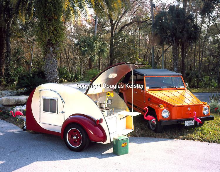 1947 Kit Kamper Teardrop trailer 1974 Volkswagon Thing