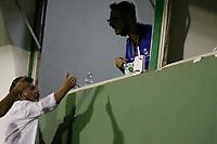 Campinas (SP), 29/01/2021 - Guarani-Juventude - Discussão entre diretores do Guarani e Radialista do Sul. Partida entre Guarani e Juventude válida pela 38ª rodada do Campeonato Brasileiro da Série B, no estádio Brinco de Ouro em Campinas, interior de São Paulo, nesta sexta-feira (29).
