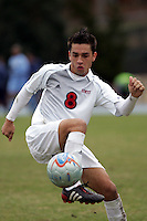 SMU's Bruno Guarda. Southern Methodist University defeated the University of North Carolina 3-2 in double overtime at Fetzer Field in Chapel Hill, North Carolina, Saturday, December 3, 2005.