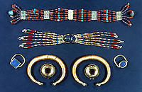 World Civilization: Egypt-- Bangles, Earrings , Rings and Bracelets.  C. 2000 B.C.   Trustees of the British Museum.