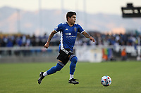 SAN JOSE, CA - MAY 12: Eduardo Lopez #9 of the San Jose Earthquakes during a game between Seattle Sounders FC and San Jose Earthquakes at PayPal Park on May 12, 2021 in San Jose, California.