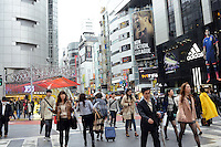SHINJI KAGAWA'S BIG POSTER AT ADIDAS SHOP IN SHIBUYA, TOKYO