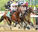 March (no. 2), ridden by Irad Ortiz Jr. and trained by Chad Brown, wins the 31st running of the grade 2 Woody Stephens Stakes for three year olds on June 06, 2015 at Belmont Park in Elmont, New York. (Bob Mayberger/Eclipse Sportswire)