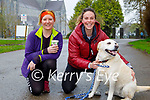 Enjoying a stroll in Killarney National park on Sunday, l to r: Madeline Walsh and Michelle Hoare with Grace the dog.