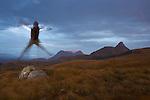 coucher de soleil sur le  Stac Pollaidh (613 m). péninsule de Coigach..