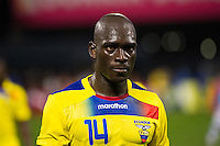 Segundo Castillo (14) of Ecuador. Ecuador defeated Chile 3-0 during an international friendly at Citi Field in Flushing, NY, on August 15, 2012.