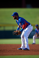 AZL Cubs 2 first baseman Richard Nunez (4) during an Arizona League game against the AZL Reds on July 23, 2019 at Sloan Park in Mesa, Arizona. AZL Cubs 2 defeated the AZL Reds 5-3. (Zachary Lucy/Four Seam Images)