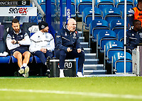 31st October 2020; The Kiyan Prince Foundation Stadium, London, England; English Football League Championship Football, Queen Park Rangers versus Cardiff City; Manager Mark Warburton of QPR gets animated on the sideline