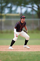 Alec Sanchez (29) while playing for FTB/SF Giants Scout Team based out of Kissimmee, Florida during the WWBA World Championship at the Roger Dean Complex on October 21, 2017 in Jupiter, Florida.  Alec Sanchez is a shortstop / second baseman from Jacksonville, Florida who attends Providence High School.  (Mike Janes/Four Seam Images)