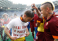 Calcio, Serie A: Lazio vs Roma. Roma, stadio Olimpico, 25 maggio 2015.<br /> during the Italian Serie A football match between Lazio and Roma at Rome's Olympic stadium, 25 May 2015.<br /> UPDATE IMAGES PRESS/Riccardo De Luca