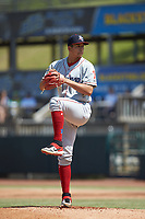 Lakewood BlueClaws starting pitcher Francisco Morales (57) in action against the Hickory Crawdads at L.P. Frans Stadium on April 28, 2019 in Hickory, North Carolina. The Crawdads defeated the BlueClaws 10-3. (Brian Westerholt/Four Seam Images)