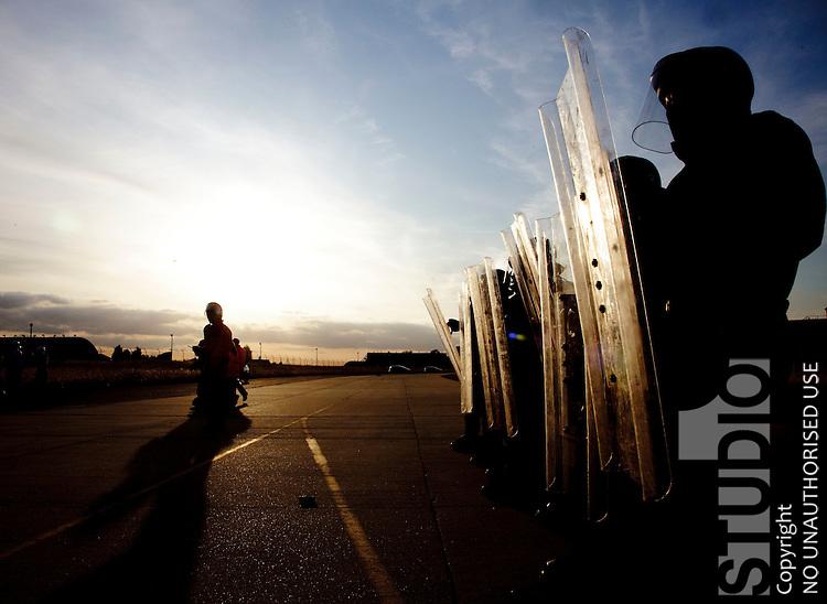Police Riot Training Alconbury Airfield