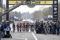 last riders rolling in<br /> <br /> 105th Ronde van Vlaanderen 2021 (MEN1.UWT)<br /> <br /> 1 day race from Antwerp to Oudenaarde (BEL/264km) <br /> <br /> ©kramon