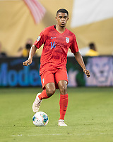 KANSAS CITY, KS - JUNE 26: Reggie Cannon #14 during a game between Panama and USMNT at Children's Mercy Park on June 26, 2019 in Kansas City, Kansas.