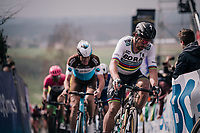 World Champion Peter Sagan (SVK/Bora-Hansgrohe) in the first ascent up the Paterberg<br /> <br /> 102nd Ronde van Vlaanderen 2018 (1.UWT)<br /> Antwerpen - Oudenaarde (BEL): 265km