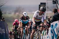 World Champion Peter Sagan (SVK/Bora-Hansgrohe) in the first ascent up the Paterberg<br /> <br /> 102nd Ronde van Vlaanderen 2018 (1.UWT)<br /> Antwerpen - Oudenaarde (BEL): 265km