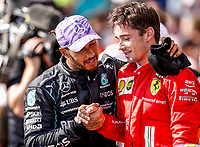 HAMILTON Lewis (gbr), Mercedes AMG F1 GP W12 E Performance, portrait LECLERC Charles (mco), Scuderia Ferrari SF21, portrait during the Formula 1 Pirelli British Grand Prix 2021, 10th round of the 2021 FIA Formula One World Championship from July 16 to 18, 2021 on the Silverstone Circuit, in Silverstone, United Kingdom - Photo DPPI<br /> Formula 1 GP Great Britain Silverstone 18/07/2021<br /> Photo DPPI/Panoramic/Insidefoto <br /> ITALY ONLY