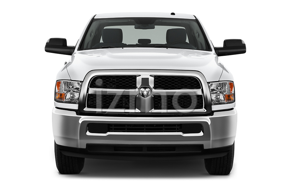 Car photography straight front view of a 2018 Ram Ram 2500 Pickup Tradesman 4wd Crew Cab LWB 4 Door Pick Up