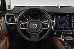 Car pictures of steering wheel view of a 2018 Volvo S90 Inscription 4 Door Sedan Steering Wheel