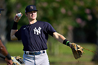 FCL Yankees shortstop Trey Sweeney (33) during warmups before a game against the FCL Tigers West on July 31, 2021 at Tigertown in Lakeland, Florida.  (Mike Janes/Four Seam Images)